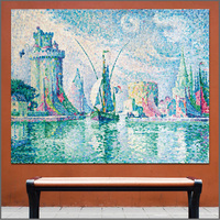 Large Size Oil Painting Pictorial Art Boats Sailing Signac Art Canvas Prints Pictures For Living Room