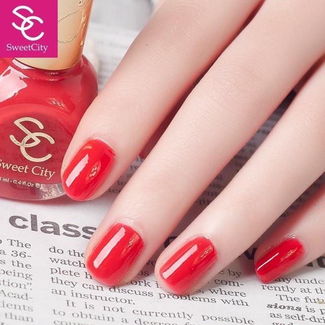 SweetCity Brand High Quality Quick Dry Nail Polish Red Nail Art ...