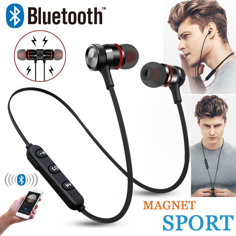 GZ05 Bluetooth Headset Wireless Headset Stereo Headphones Sports Magnetic Earphones with Microphone for All Mobile Phones-in Bluetooth Earphones & Headphones from Consumer Electronics
