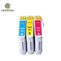 hp officejet Obestda 940XL Compatible Ink Cartridge Replacement for HP 940 XL C4906A C4907A C4908A C4909A For HP Officejet Pro 8000 8500 (3)