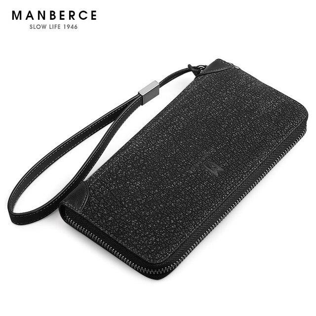 Cowhide Long design wallet male genuine leather vintage purse, Brand clutch wallet, iphone bag