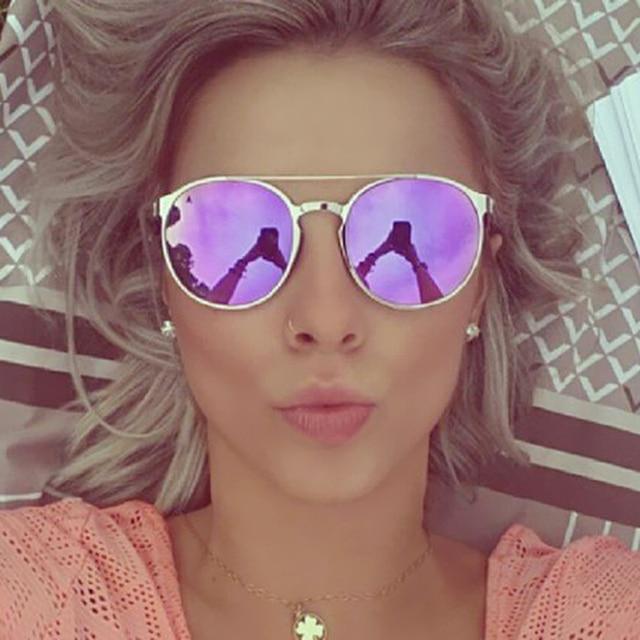 885ff5fadd3 Round Rose Gold Mirror Fashion Sunglasses Men Women UV Protect Cute Circle  Frame Sun Glasses Male Female Shades Vintage Small