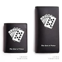 Poker Conception Portefeuilles pour Garçons et Filles PU sac à Main À Long Court Cateira