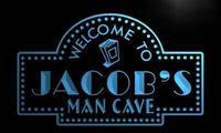 X0122-tm Jacob человек пещера дома Театр пользовательских персонализированные имя Neon Sign; оптовая продажа; Прямая поставка; на/выключения 7 цветов ...