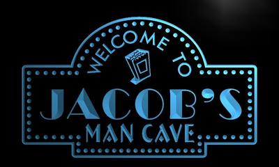 x0122-tm Jacobs Man Cave Home Theater Custom Personalized Name Neon Sign Wholesale Dropshipping On/Off Switch 7 Colors DHL