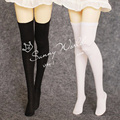 2PCS/LOT Hot Sale BJD Doll Accessories Black/White 1/3 1/4 Stockings For BJD Doll
