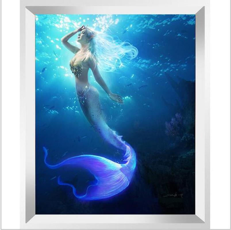 5d Diamond Painting Diamond Embroidery Cartoon Mermaid
