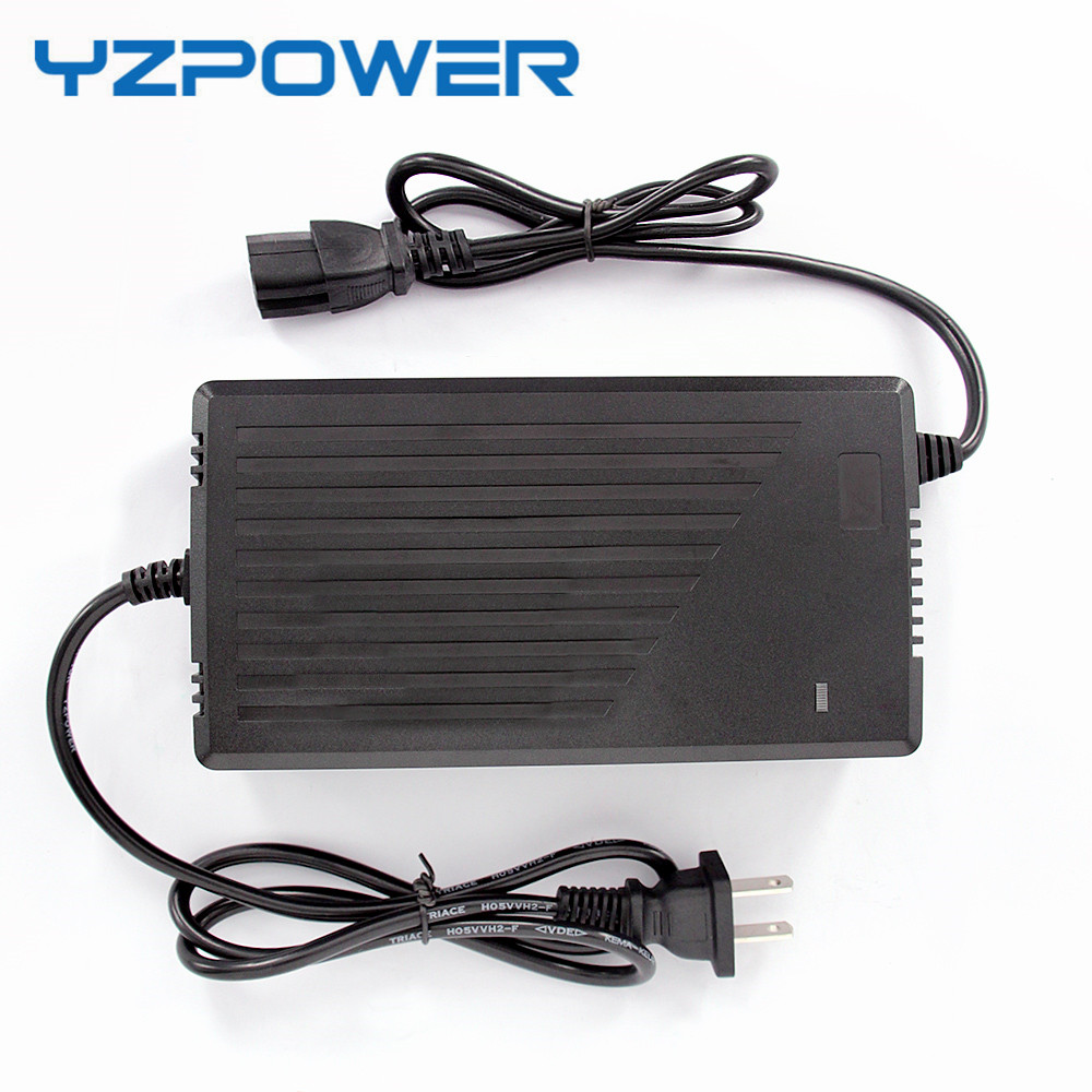 YZPOWER 43.5V 5A 43.5V5A <font><b>Smart</b></font> Lead Acid <font><b>Battery</b></font> <font><b>Charger</b></font> With Cooling Fan for 36V <font><b>Battery</b></font>