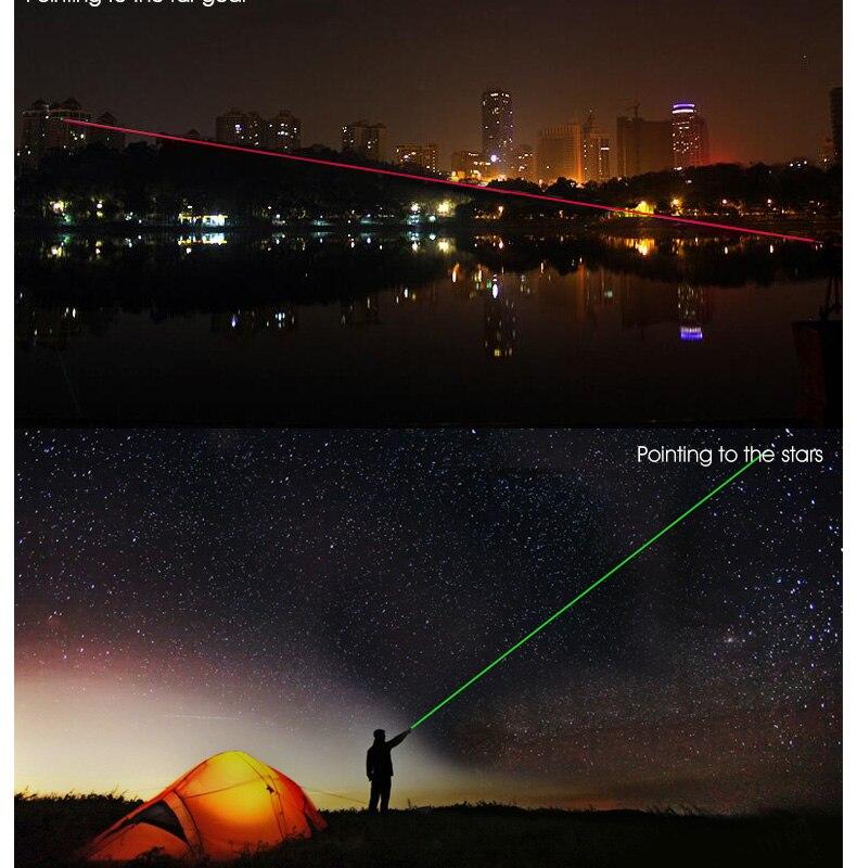Lanternas e Lanternas poderosa lanterna caneta ponto de Item : Laser Pen Flashlight
