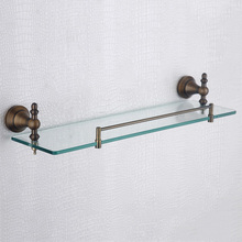Rose Gold Single Glass Shelves Vintage Shower Soap Shampoo Rack Wall  Mounted 304 Stainless Steel And