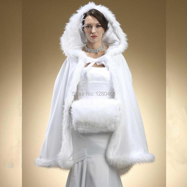 Kunstpelz Braut Bolero Mit Kapuze Braut Cape Hochzeit Jacke Fur
