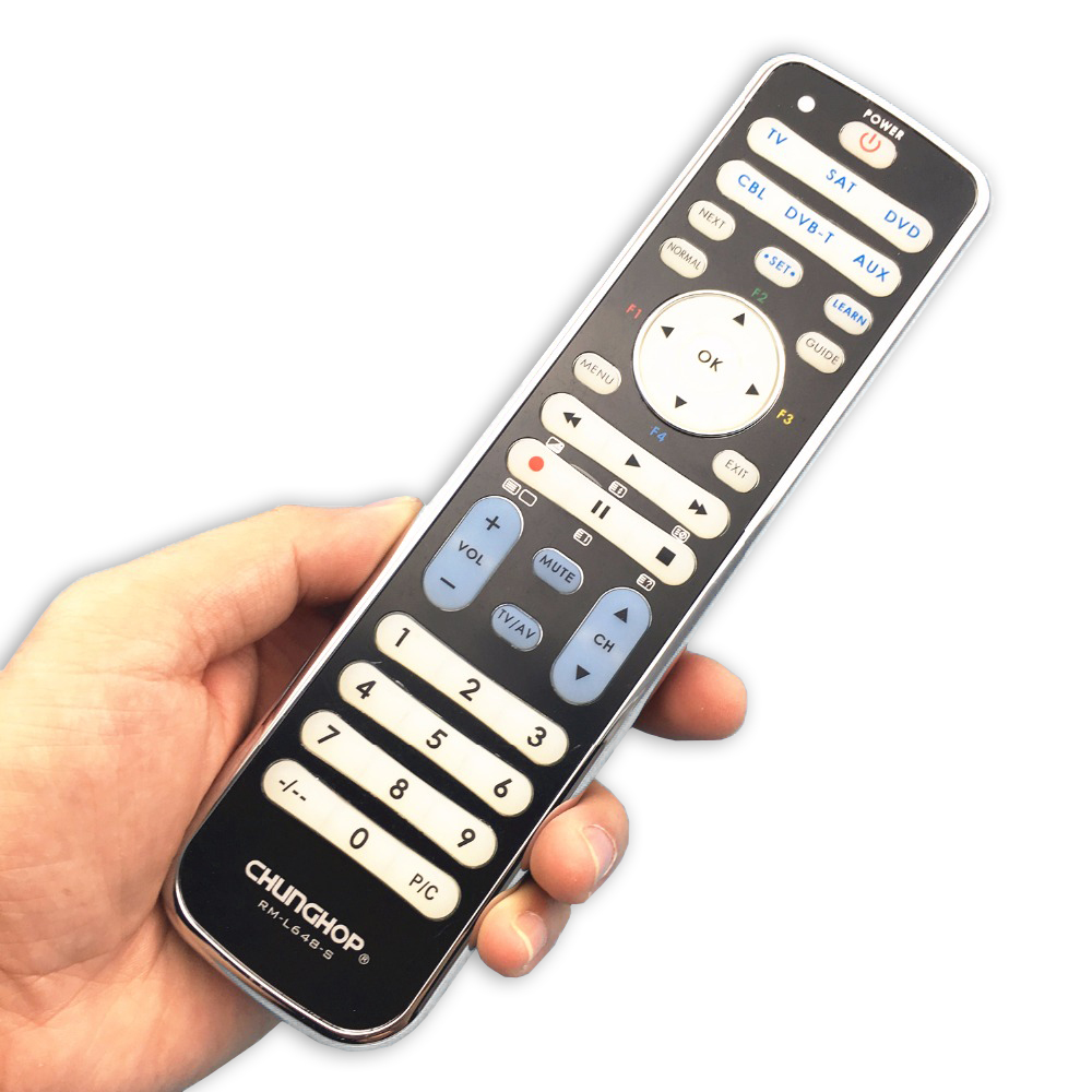 Chunghop Combinational remote control learn remote FOR TV SAT DVD CBL DVB-T AUX universal controller with code RM-L648-S universal smart remote control controller with learn function for tv dvd sat cbl drop shipping