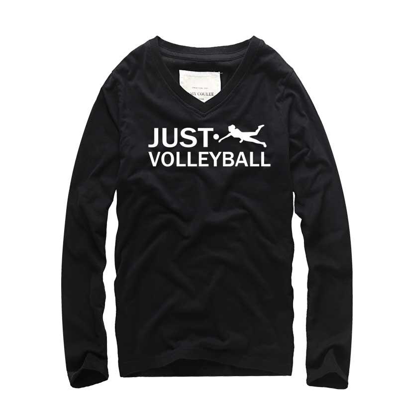 Kreatives Design VOLLEY BALL Print Mode Männer Langarm T-shirt - Herrenbekleidung