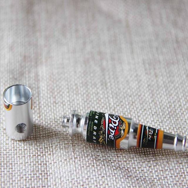 Mini Beer Bottle Metal Pipe