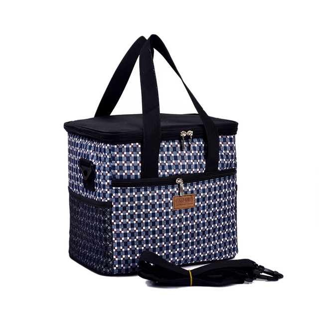 Lattice Thermos Thermal Cooler Bag Lancheira Sacola Bolsas Marmita Ice Insulation Bag Lunch Bag Tote Messenger Zipper Picnic Bag