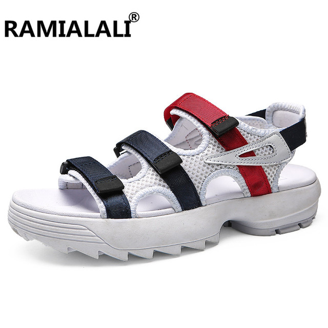 15d7bbbcb0f6 Ramialli Fashion Men Sandals Summer Men s Slippers Casual Shoes Beach  Breathable Sandals Men Shoes Flip-Flops Zapatos