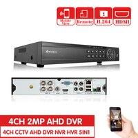 AHCVBIVN4CH CCTV System 1080P TVI 4CH CCTV DVR with 4PCS 2.0MP CCD Security Camera 1920*1080 CCTV Camera Surveillance System