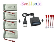 Ewellsold X5HC X5HW Battery Spare Parts 3 7V 1200mAh Li Battery For X5HC X5HW with 4in1