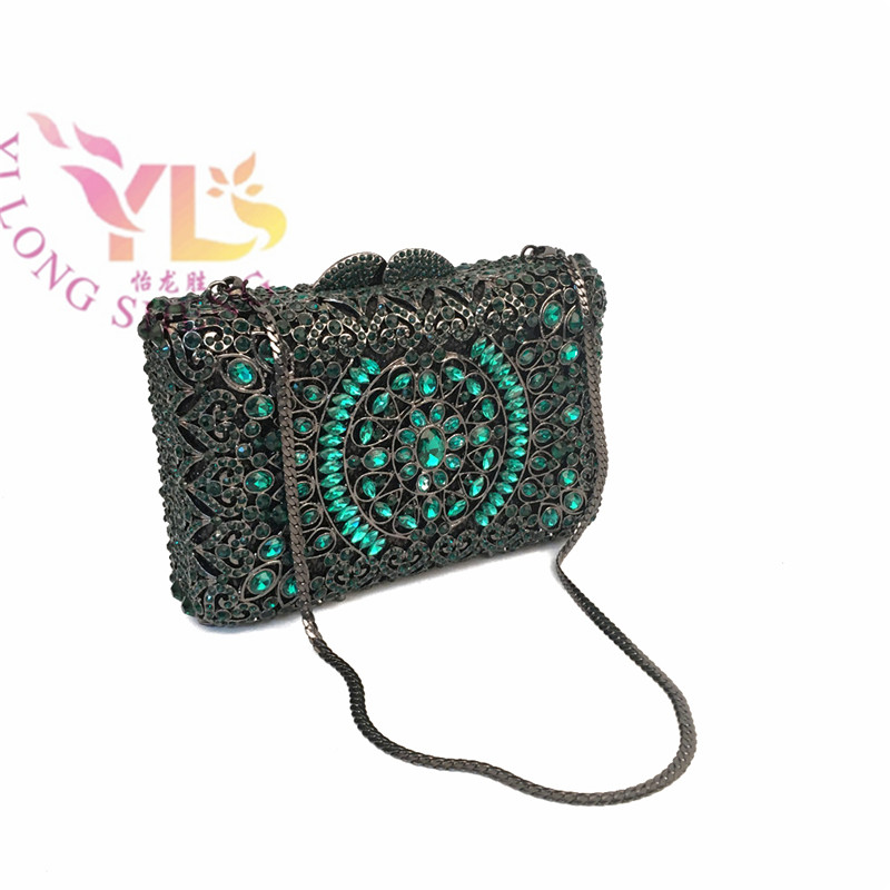 ФОТО YILONGSHENG Women Crystal Diamonds Event/Party/Evening Clutches Bag Gold/Champagne/Green/Blue