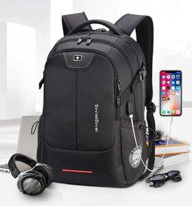 Image 5 - SWICKY multifunction large capacity male bag fashion travel usb charging waterproof anti theft 15.6inch laptop backpack men