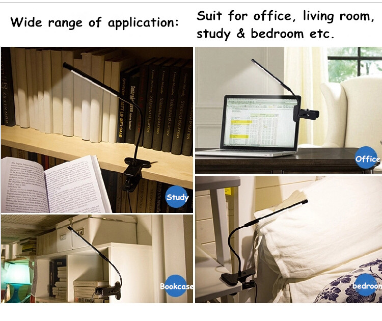 Touch Dimmable Flexible USB LED Augenpflege Leselampe Einstellbare - Innenbeleuchtung - Foto 6