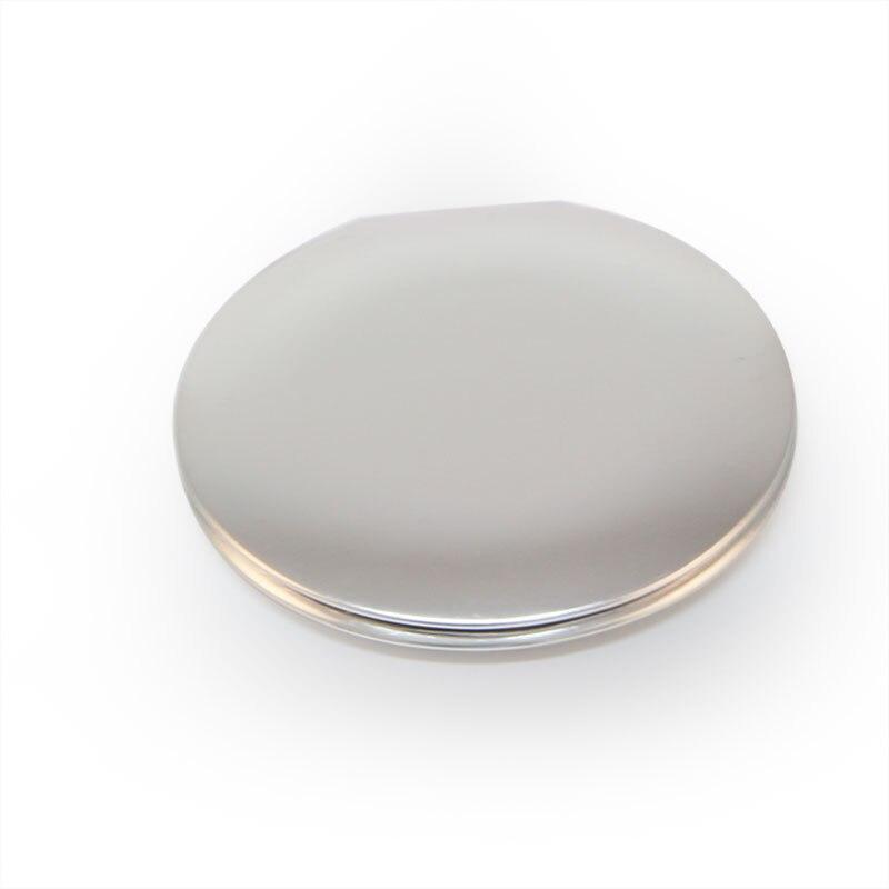 Простой белый цвет сделанный на заказ с логотипом круглый складной магнит открытый переключатель портативное зеркало для макияжа для свад...