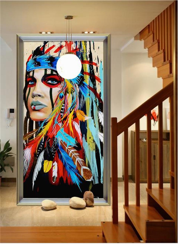 custom 3d photo wallpaper living room mural native ...