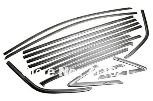 Car Styling Chrome Side Window Full Trim Set For Ford