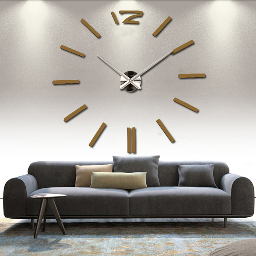 3d Real Big Wall Clock Rushed Mirror Sticker Diy Living Room Decor Free Shipping Fashion Watches 2016 New Arrival Quartz Clocks In From Home