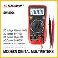 SNDWAY Цифровой мультиметр Сопротивление Емкость тока Амперметр Вольтметр Ом частота температура тестер SW-890C