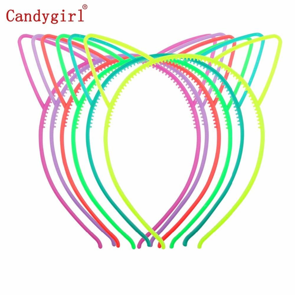 1pc Girl Kids Women Plastic Glow Hairbands Luminous Cat Ears Headbands Halloween Easter Hair Accessories Hair Band Headwear in Hair Accessories from Mother Kids