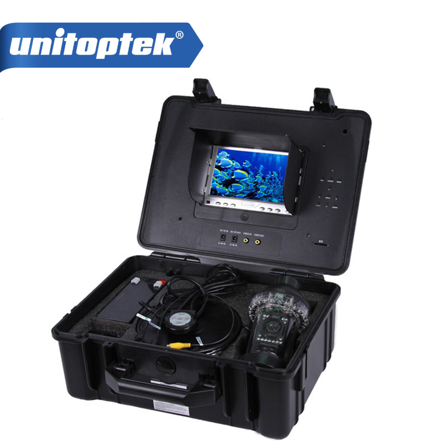 цена на 7 LCD Digital Monitor Underwater Camera With DVR Support 16GB Card SONY CCD 18 LED Lights 300M Cable 360 Degree Fish Finder