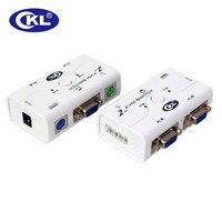 CKL-52A 2ポートvga ps/2自動ミニkvmスイッチボックス1 pcコンピュータコンソールコントロール2モニタースイッチャー用キーボードビデオマウス