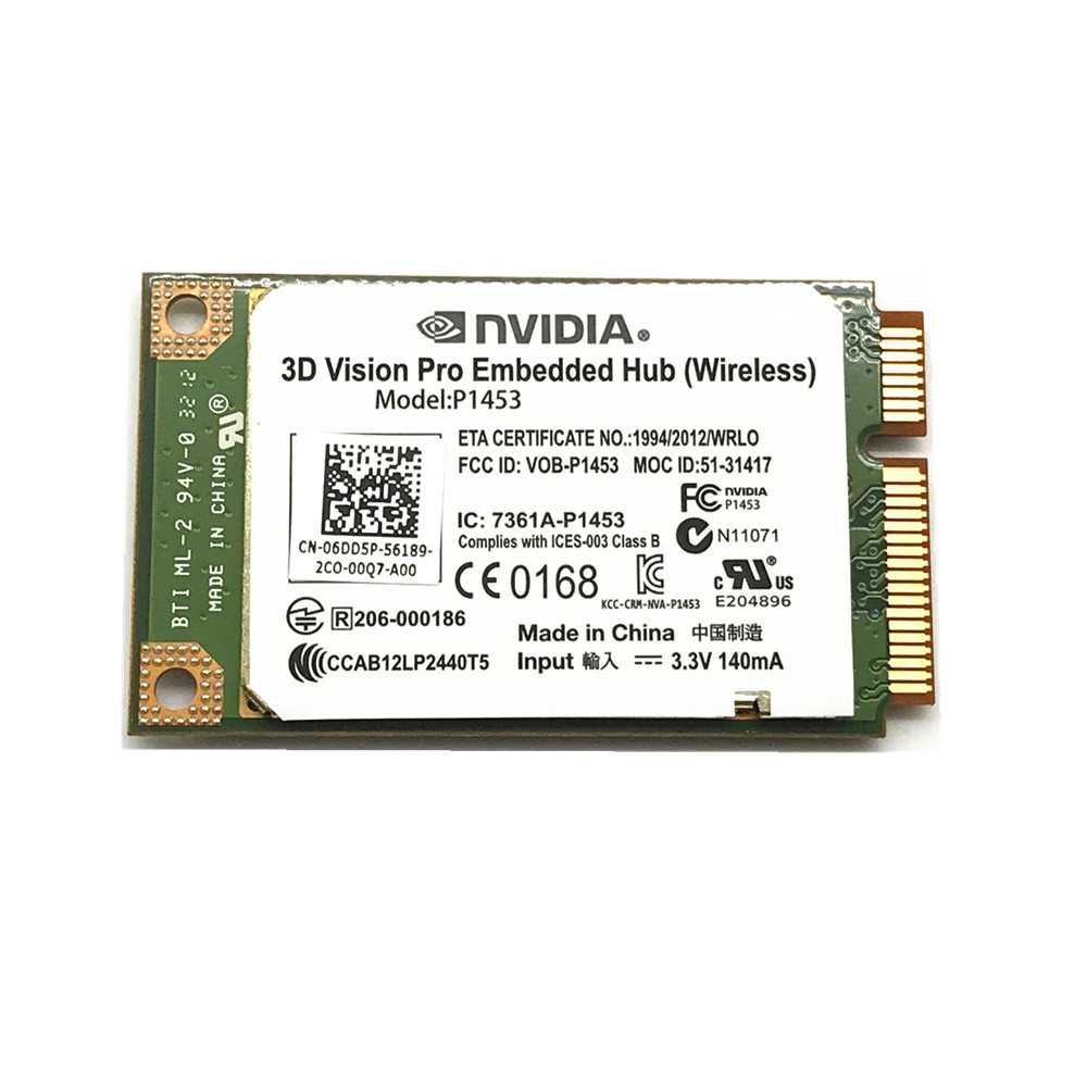 Free Shipping! 3D Vision Pro Embedded Hub Wireless Card For Dell NvidiaModel P1453 6DD5P New