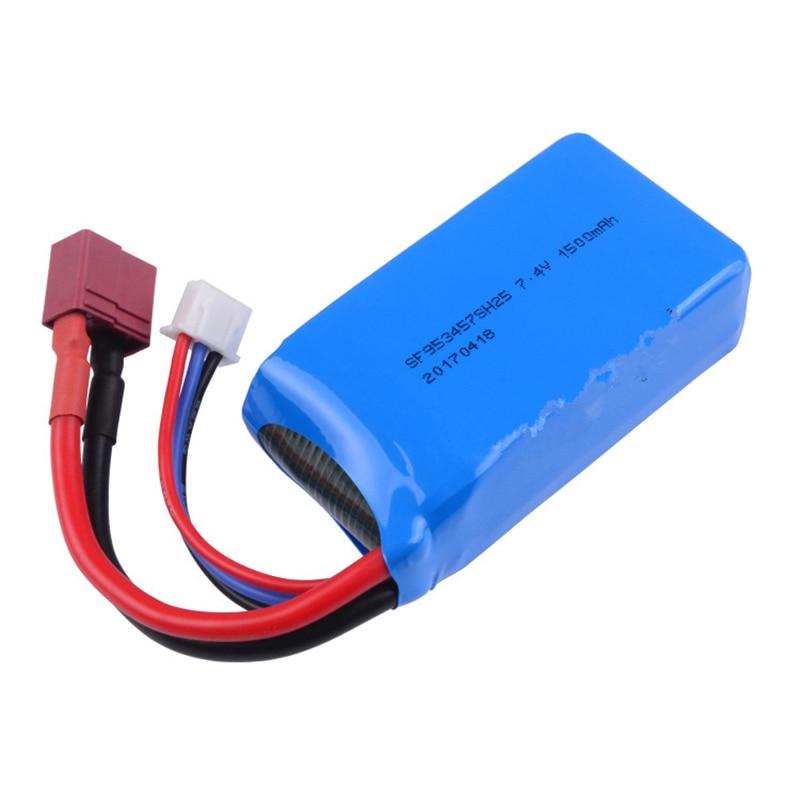 WLtoys 7.4V1500mah batterie au lithium d'origine A959-b a969-b a979-b k929-b télécommande véhicule et prise pour la t-plug.