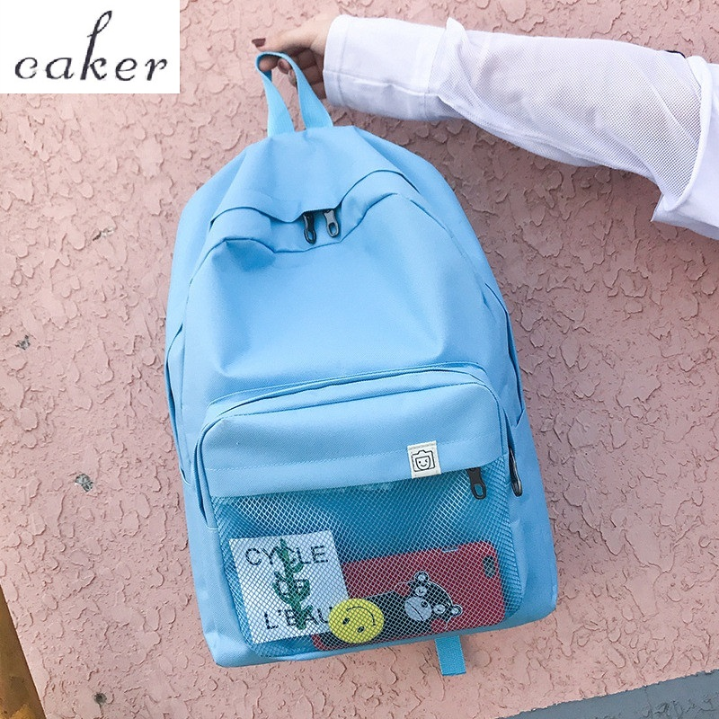 Caker 2017 Girls Backpacks Oxford Backpack For School Student High Quality Colleague Blue Backpacks For Girls