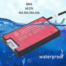6S 24 فولت بطارية ليثيوم لوح حماية BMS توازن وظيفة مقاوم للماء 3.7 فولت يبو لي أيون 15A 20A 30A 40A للحفر الكهربائي