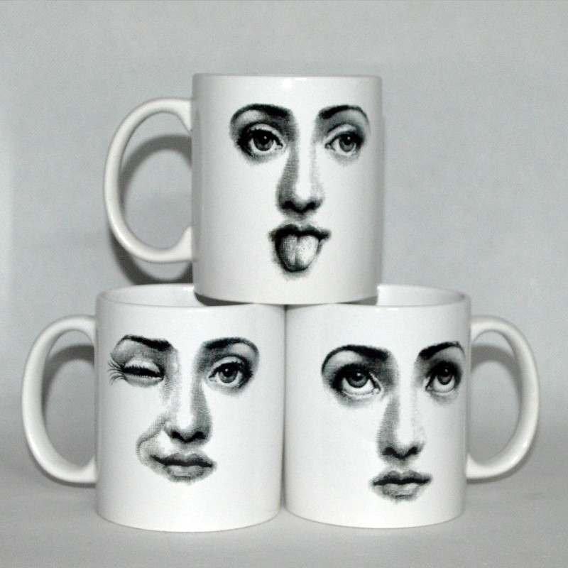 Ceramic fornasetti Coffee Cups Personality Novelty Home ornaments Office Gifts Milk Mug CUP for christmas/birthday gift
