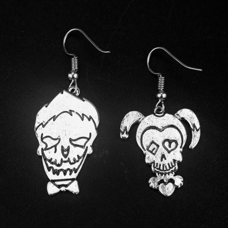 Fashion Jewelry Suicide Squad Joker Earrings Movie Cosplay Earring For Women and Girls Gift