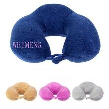 Top Quality Velvet U Shaped Pillow Memory Foam Neck Pillow Travel Pillow Shoulder Pain Relax Support Massager Pillow