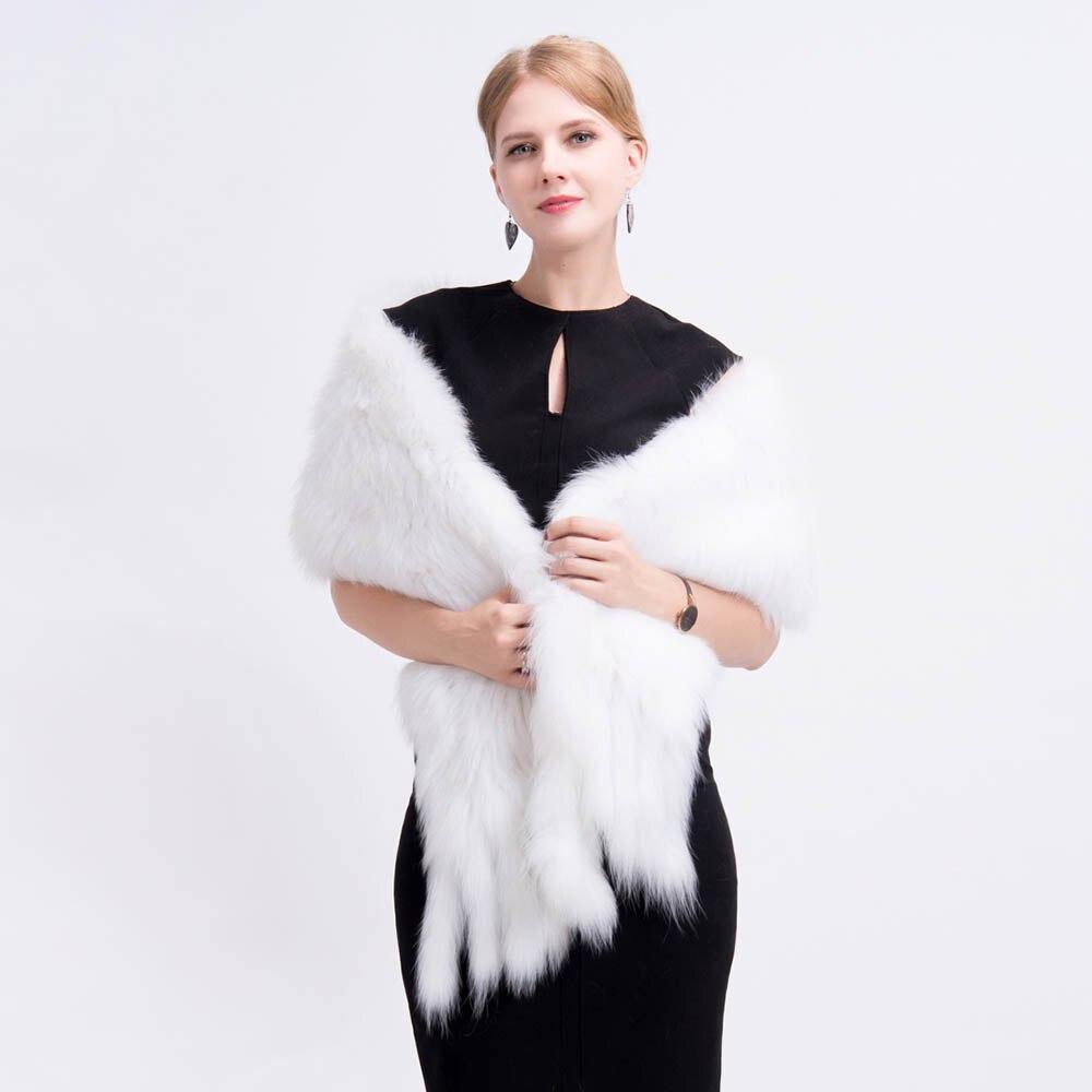 knit fox fur shawl 3