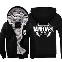 2017 Game Tom Clancy s Rainbow Six Siege Hoodies Zip up Thick Winter Mens Casual Super