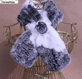 Real Rabbit Fur Scarf For Women Knitted Rabbit Fur Scarves 2017 In Winter Warm Floral Fashion Adults High Quality Hot Sale New