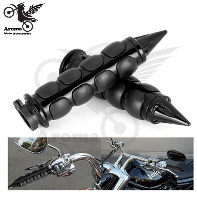 2 colors available motorcycle grips for Harley Davidson handlebar motorbike handle bar sliver black 7/8 22mm or 1 25mm moto