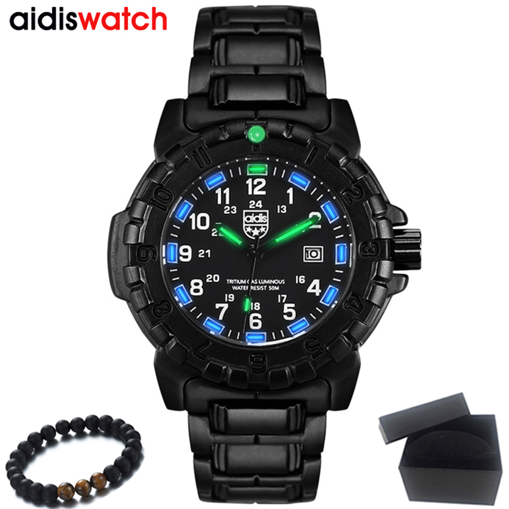 Top Luxury Brand AIDIS 2018 New Men Watch Fashion Sports Army Military Watches Waterproof Quartz Watch Clock Relogio Masculino