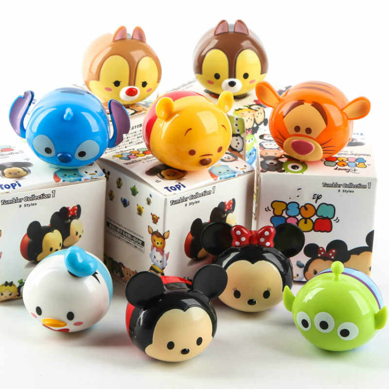 9 pçs/lote Alta Qulity figura Set Brinquedo Stich Mickey Minnie Winnie Tigre Figuras de Ação Brinquedos Mesa de Decoração Para Casa Presentes para crianças