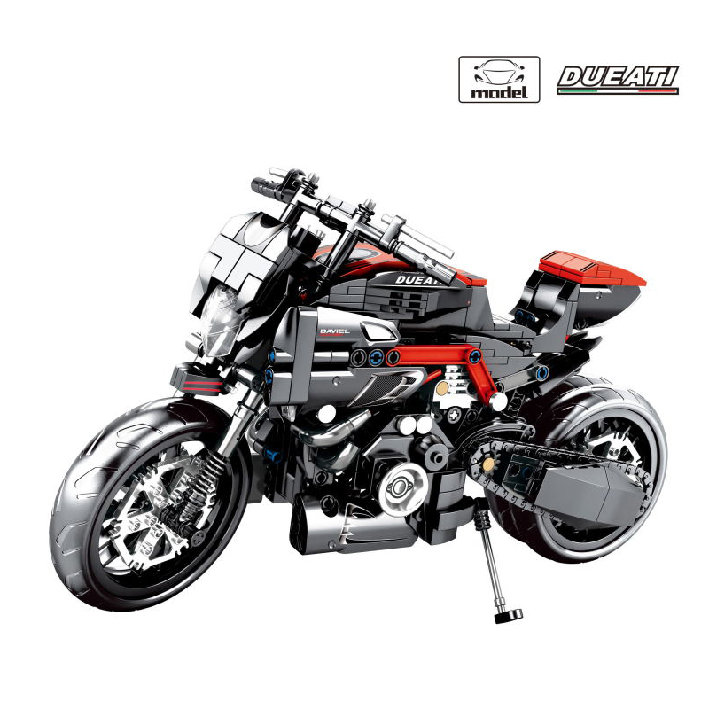 Technic Monster 1200R 797 Motorcycle Building Blocks Bricks Fit Legoing Autocycle ORV Vehicles Toys Gifts For Children