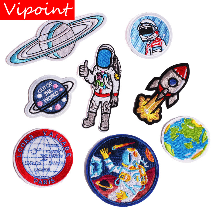 VIPOINT embroidery spaceman patches star patches badges applique patches for clothing ZK-194