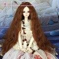 Boneca Bjd peruca boneca sd fio de alta temperatura peruca de cabelo para 1/3 1/4 1/6 bonecas BJD Super Dollfile Peruca de Cabelo ondulado longo