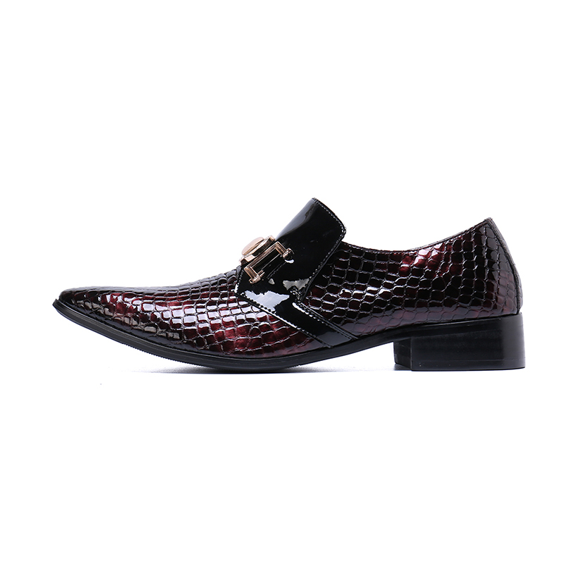 2019 Spring new pointed toe Korean style of the genuine leather crocodile pattern fashion mens wedges business dress shoes2019 Spring new pointed toe Korean style of the genuine leather crocodile pattern fashion mens wedges business dress shoes